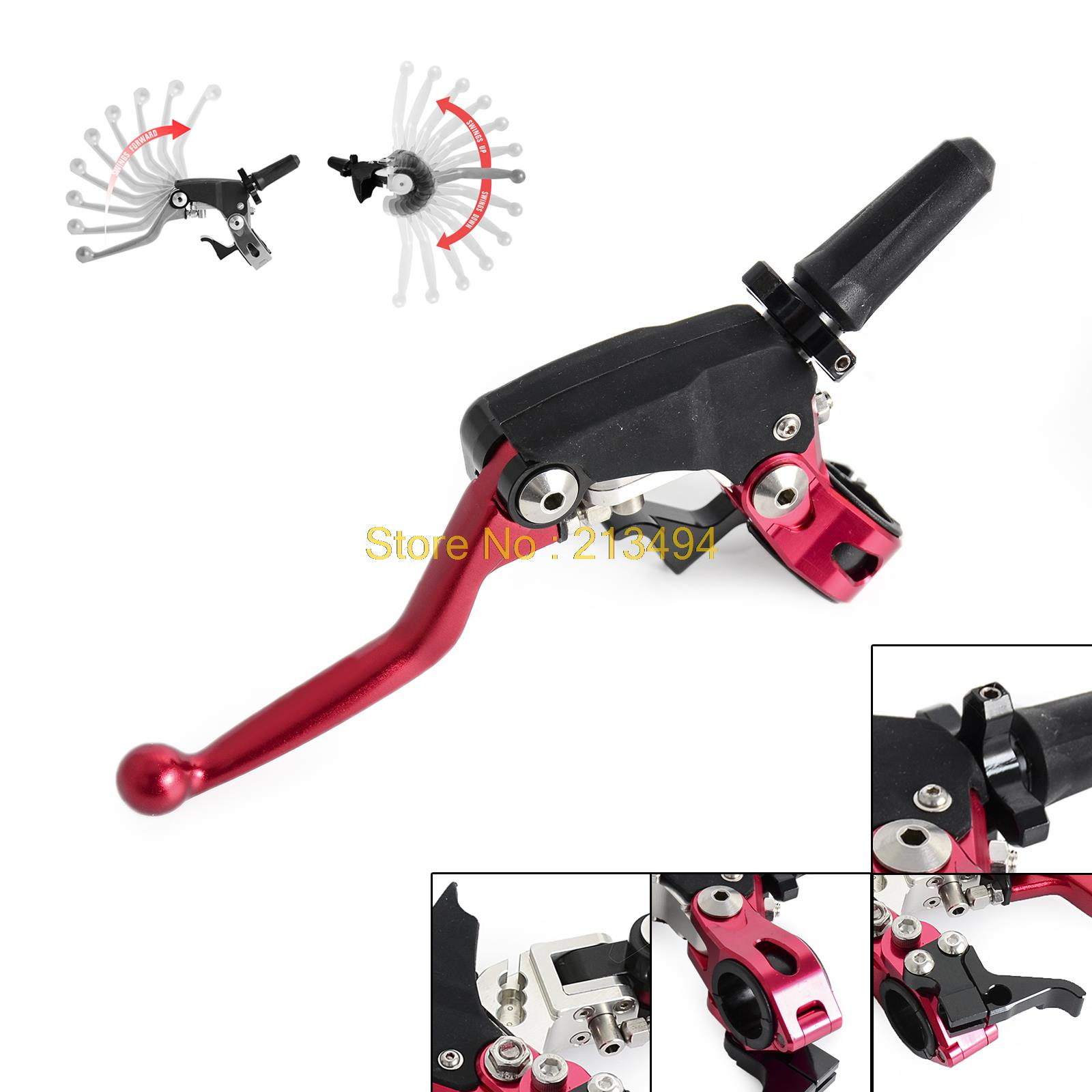 Forged Dirt Bikes Folding Clutch Lever Assembly Perch w/ Hot Start Lever For Honda CR CRF XL XR 125 150 250 400 450 650 for honda crf 250r 450r 2004 2006 crf 250x 450x 2004 2015 red motorcycle dirt bike off road cnc pivot brake clutch lever