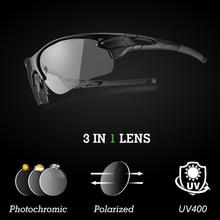 ROCKBROS Polarized Photochromic Cycling Glasses Men Women Fish Sports Sun Glasses Mountain Road Bike Sunglasses Cycling Eyewear