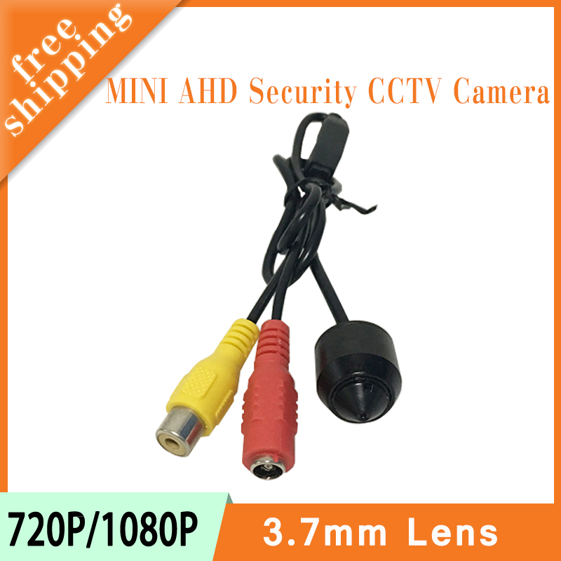 Black Color Plastic Round head 3.7mm Lens Mini 720P/1080P 1mp/2mp  AHD CCTV CMOS AHD CCTV Surveillance Cameras Free Shipping qhy5l ii c imager guider cameras with free a 8mm cctv lens