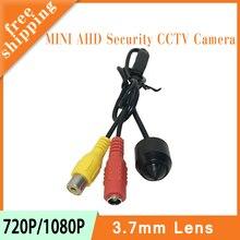 Черный цвет пластиковая круглая головка мм 3,7 мм объектив Мини 720 P/1080 P 1mp/2mp AHD CCTV CMOS AHD камеры видеонаблюдения Бесплатная доставка
