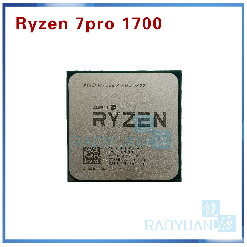 AMD Ryzen 7 PRO 1700 R7 PRO 1700 3.0 GHz Eight-Core Sixteen-Thread  CPU Processor 65W YD1700BBM88AE Socket AM4
