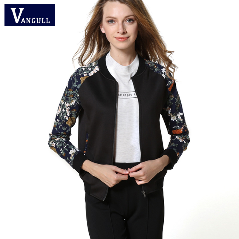 2017 New Spring women Casual   jacket   long sleeve Print metallic color patchwork   jackets   womens autumn harajuku   basic   coats