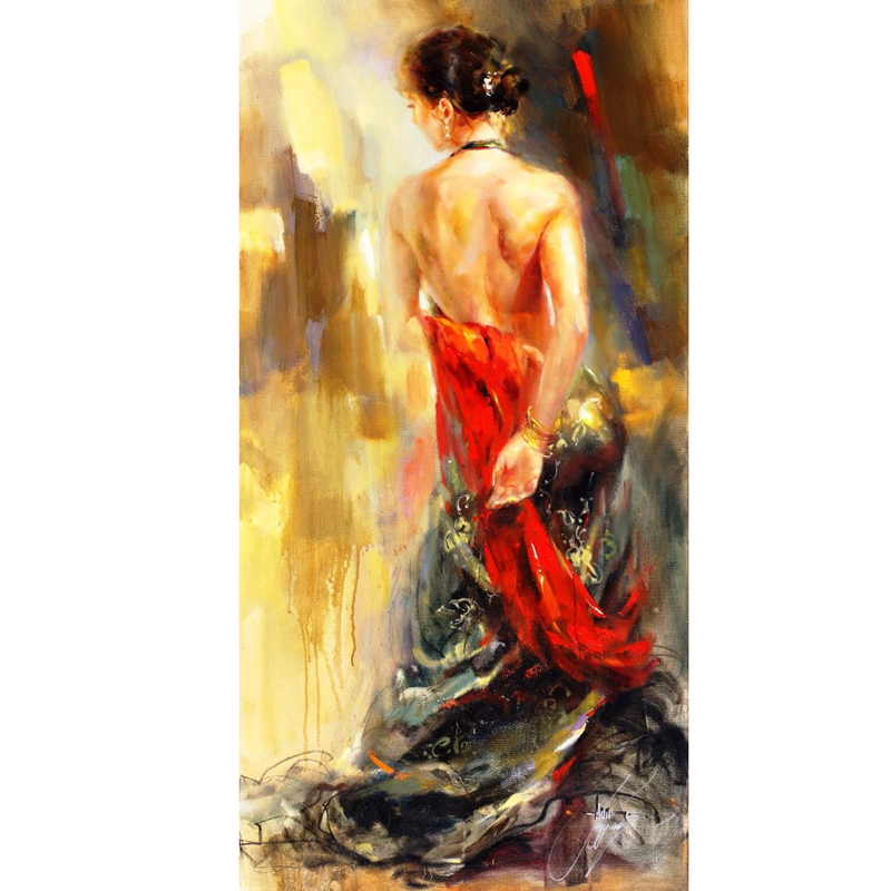 Hand Painted modern Art Modern Figure Painting The Red Scarf Anna canvas painting for home decor Canvens painting Living roomHand Painted modern Art Modern Figure Painting The Red Scarf Anna canvas painting for home decor Canvens painting Living room