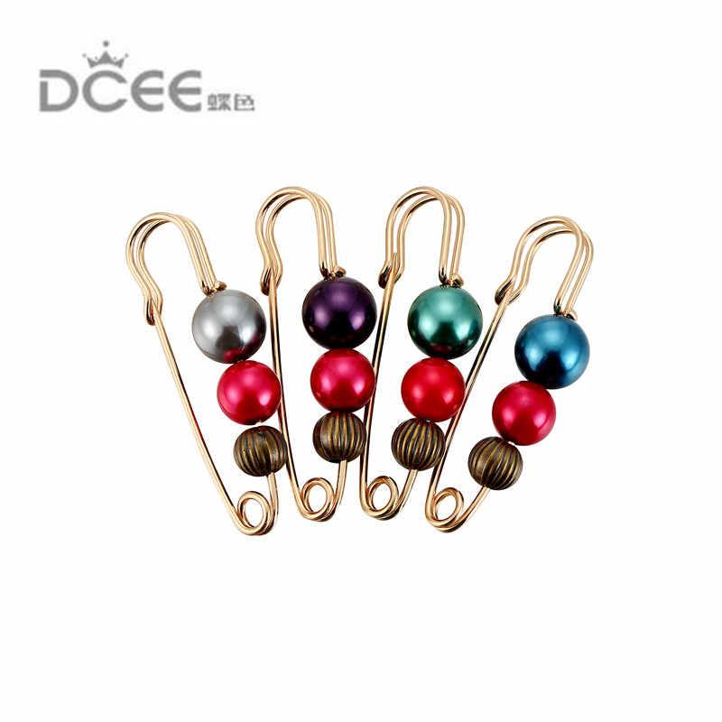 Vintage Mutiara Bros Pin Dress Hiasan Berlian Imitasi Gesper Perhiasan Bros untuk Pria Wanita Brocade Jilbab Pin Aksesoris Hadiah