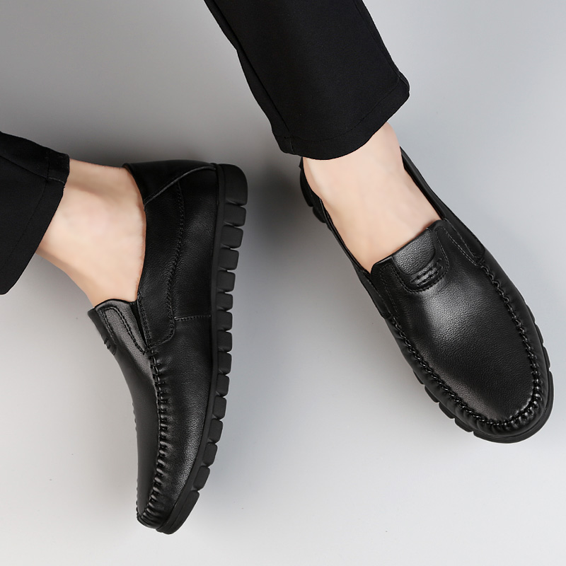 2018 new fashion men's shoes genuine leather breathable loafers man - Men's Shoes - Photo 4