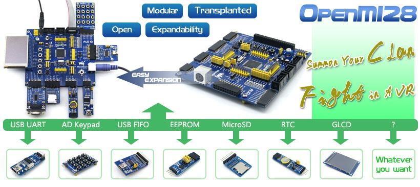 ATmega128 development board