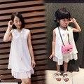 Аутентичные Летом Стиль Мать Дочь Платья 2016 Новый Шифон и Хлопок Платье Мода Повседневная Платья Семьи Сопоставления Одежда