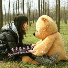 new lovely teddy bear toy sleeping bear toy stuffed light brown teddy bear gift about 100cm