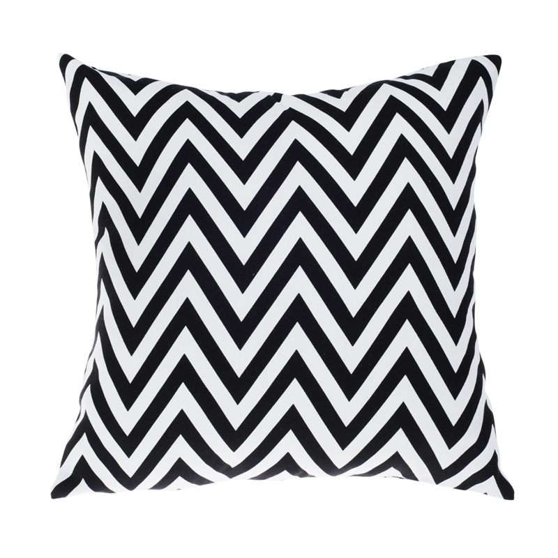Contemporary Sofa Geometric Pillows: Outdoor Chair Cushions Black White Modern Sofa Cushion