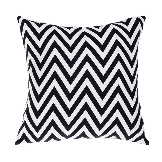 Outdoor Chair Cushions Black White Modern Sofa Cushion Printed ...