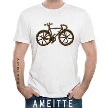 Nueva camiseta de moda de verano para hombres, divertida camiseta de Arte de bicicleta de Árbol Verde, camisetas casuales blancas de diseño Vintage, camisetas Punk de novedad para niños