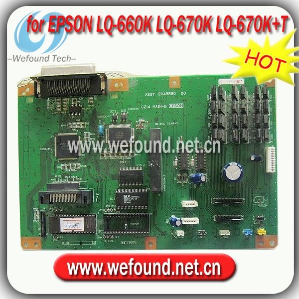 Hot!100% good quality for Epson LQ-660K LQ-670K LQ-670K+T formatter board motherboard ms 9665 ver 1 1 server board 771 dual board 100% test good quality