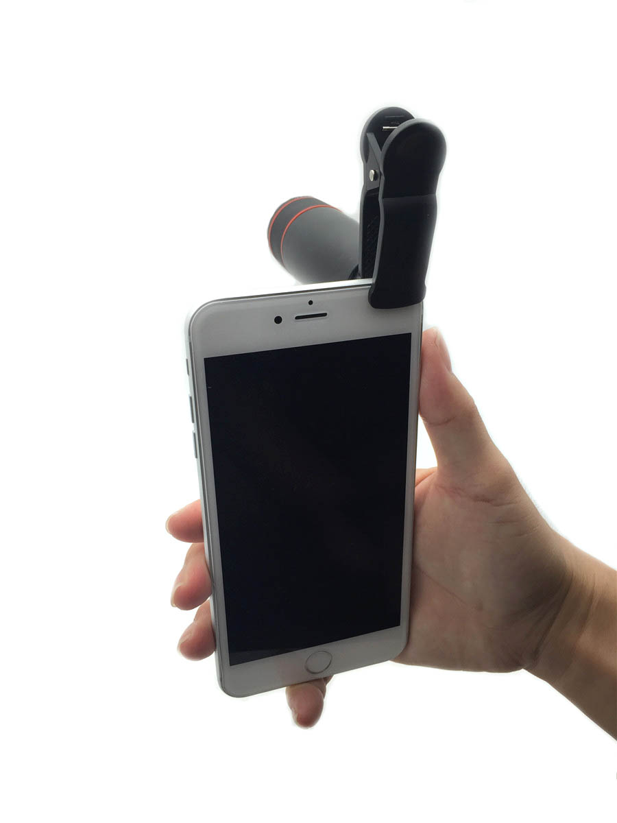 4in1 12x qara Zoom Telescopic Optik obyektiv və makro və geniş - Cib telefonu aksesuarları və hissələri - Fotoqrafiya 3