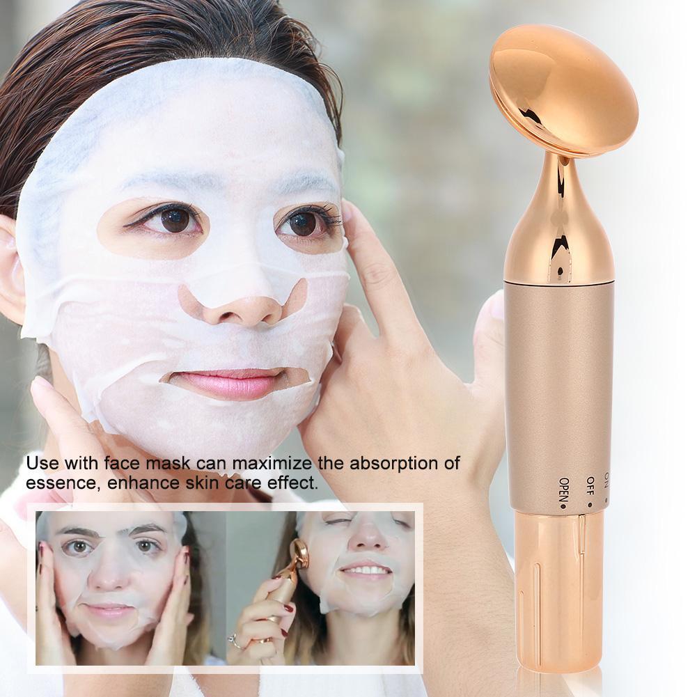 Ultrasonic Slim Lift Tighten Face Beauty Device Skin Spa Cleaner Massager Stick