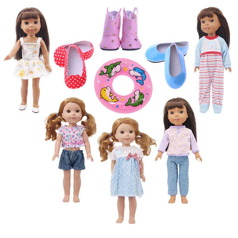 חדש כניסות בובת בגדי 7 Pcs בובת שמלות חצאיות חליפות עבור 14.5 אינץ Wellie שוחרי דור צעצוע בובת אביזרי ב המניה