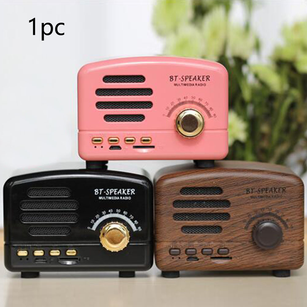 Shortwave Pocket Portable Stereo Speaker Bluetooth AM FM Home Support Card Retro Mini Radio Receiver With Rechargeable Battery