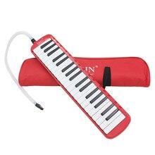Высокое качество 37 пианино клавишная мелодика Pianica музыкальный инструмент с сумкой для ученики-новички для детей