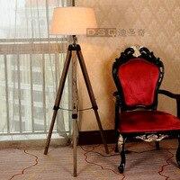 Скандинавский скандинавский американский стиль торшер деревянный Lampstand торшер 3 цвета абажур
