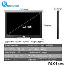 10.1″ 2K Industrial Security Surveillance Capacitive Touch monitor 12.5mm LCD computer Screen Display with 2Mini HDMI 12V/5V USB