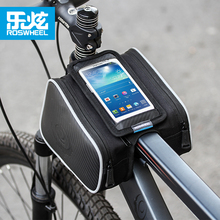 цена на Roswheel mtb bike bag bicycle bag cycling front tube bag bycicle accessories for 4.8 5.7 inch phone waterproof cover as gift