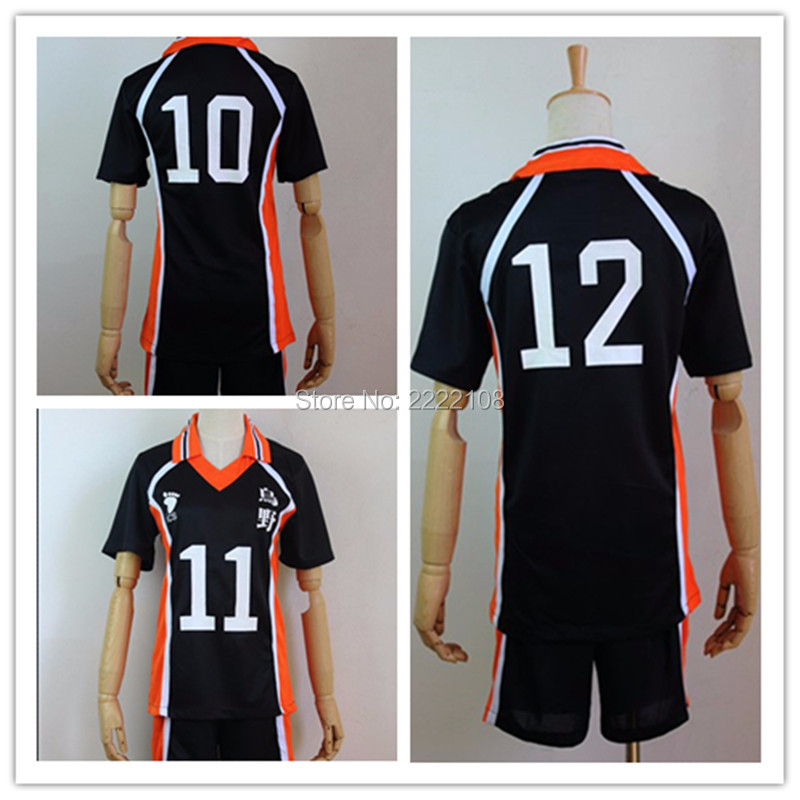 Haikyuu Cosplay,2018 Karasuno High School Cosplay Costumes Haikyuu!! Outfit Jerseys Shirts and Pants Uniform Sportswear Cosplay