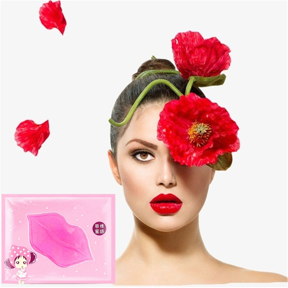 DISAAR Women Fruits Crystal Collagen Lip Mask Moisture Essence Anti Ageing Wrinkle image