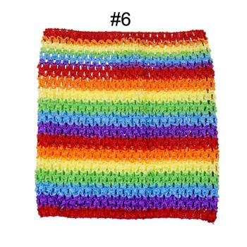 Вязаные топы-пачки длиной 9 дюймов, 20x23 см, платье-пачка для маленьких девочек, топы с бретельками, 5 шт. в партии - Цвет: 5pcs Rainbow