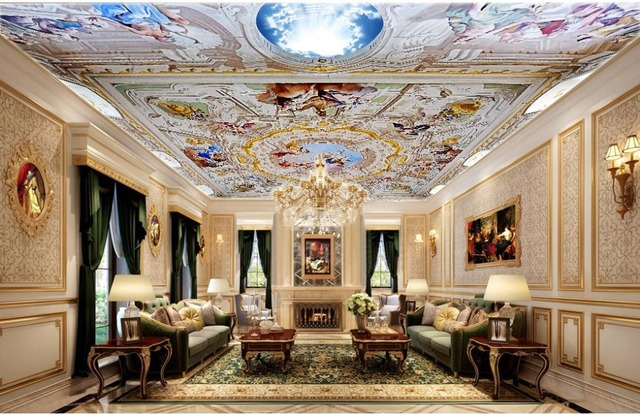 3d Bathroom Wallpaper Angel Living Room Ceiling Classic Painting Home Decoration Decor