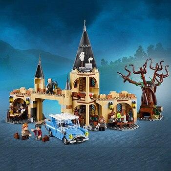 16054 ヴィンテージシルバーハッリ · ポッターシリーズホグワーツ Whomping 柳ビルディングブロック 843 個レンガのおもちゃと互換性 Legoing 75953 映画