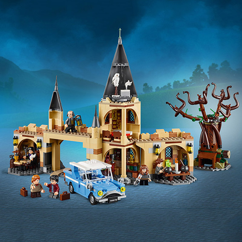 Harri Potter Serie Hogwarts Whomping Willow Bausteine 843 stücke Ziegel Spielzeug Kompatibel Mit Legoing Film 75953