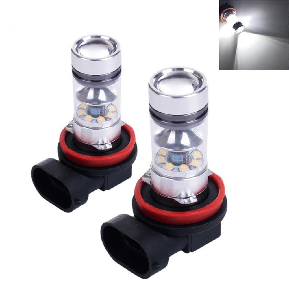 Universal 2 pieces of car led fog lights H8 H11 100W 20LED high power LED lights bulbs For Audi A4 A6 C5 C6 A3 A5 Q3 Q5 Q7 ландшафтное освещение 2 5ag 20led