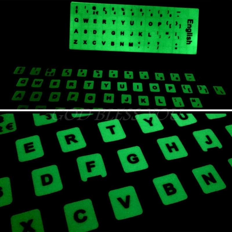 Fluorescent Keyboard Stickers Different Optional Language Luminous Waterproof Keyboard Protective Film Drop Shipping-4
