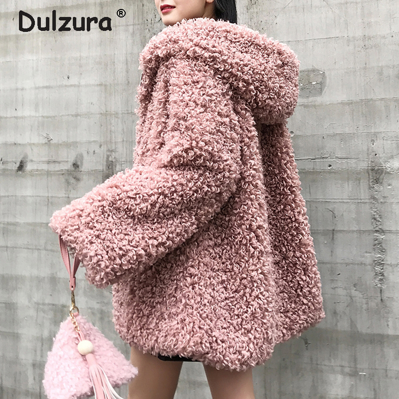 Oversized Hooded Fake Fur Jacket Women Fluffy Shaggy Zipper Faux Fur Coat Women Winter 2018 Thicken Warm Jackets Furry Overcoat|Faux Fur| |  - title=