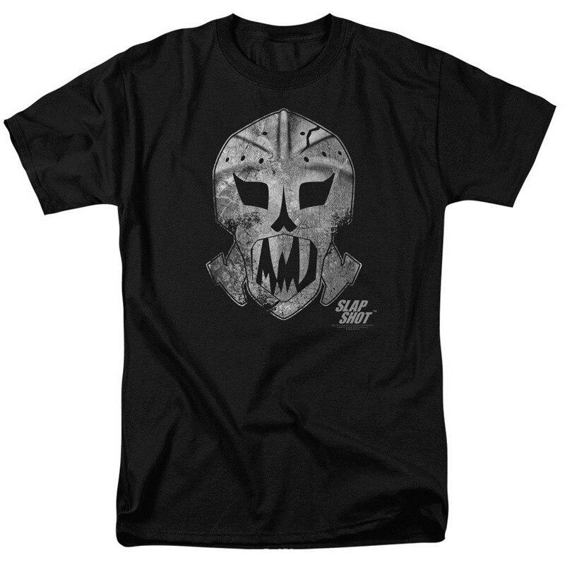 С принтами футболки онлайн модные воротам маска Для мужчин короткие с круглым вырезом футболки