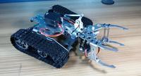 Сплав шасси танка, трактор гусеничный Интеллектуальный робот автомобиль препятствием barrowland DIY RC игрушки дистанционного управления