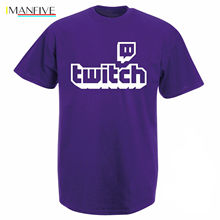 Twitch Tv T Shirt  Purple Gaming Top Gamer Tee Fathers Day Fan Gifts Short Sleeve Pride Men Unisex New Fashion