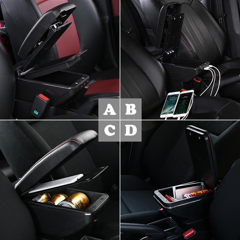 Boîte d'accoudoir de voiture automatique modifiée pour 6th Honda City 6 2014 2015 2016 2017 2018 support de verre accessoires organisateurs cendrier