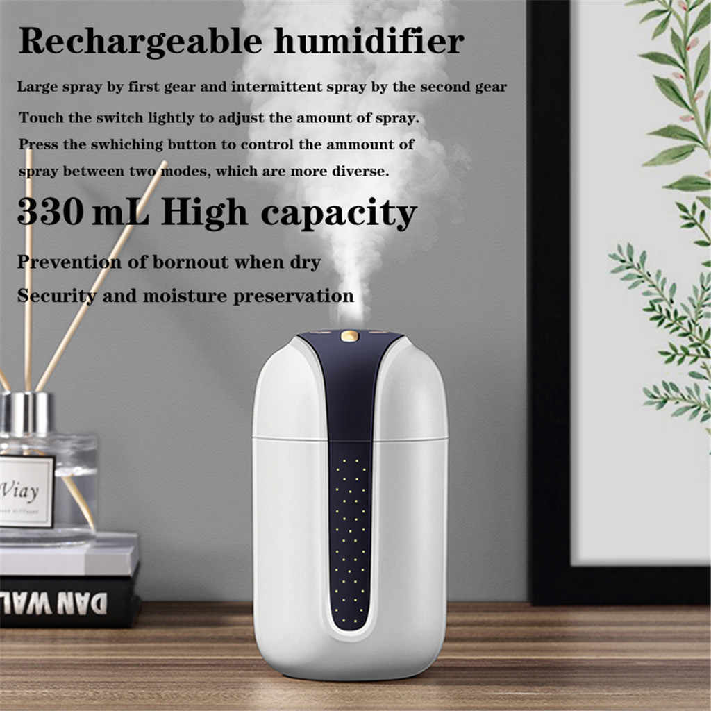 330 mL Air Humidifier USB Purifier Home Office Car Steam LED Air Aromatherap with LED Night Lamp Ultrasonic Aroma Humidifier #35