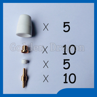 Free Shipping PT 31 LG 40 Air Plasma Cutter Cutting Torch Consumables KIT Plasma Nozzles TIPS