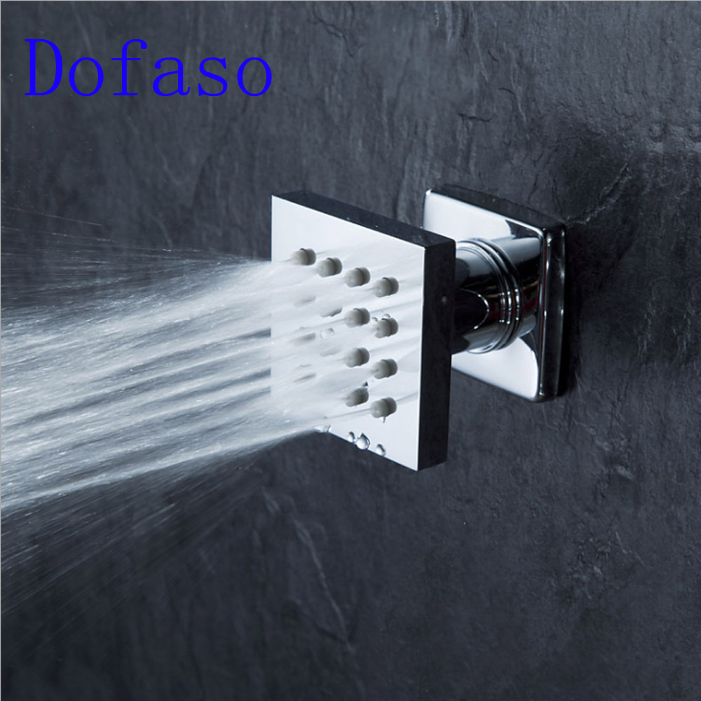 Dofaso fixed support type simple shower head set 50*50mm wall mount small special shower faucets 45 degree adjust