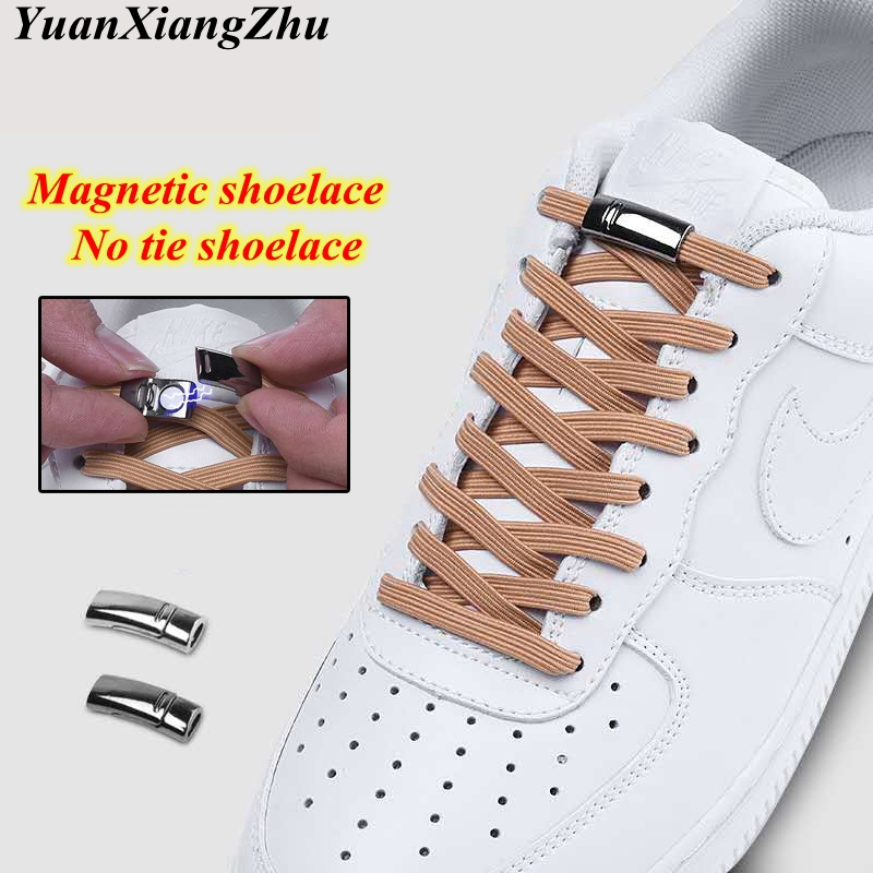 1Pair Magnetic Elastic Shoelaces Quick Locking Shoelace No Tie Shoes Lace Kids Adult Unisex Shoelace Sneakers Shoe Laces Strings1Pair Magnetic Elastic Shoelaces Quick Locking Shoelace No Tie Shoes Lace Kids Adult Unisex Shoelace Sneakers Shoe Laces Strings