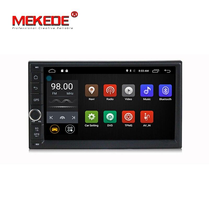 En gros! MEKEDE Android7.1 7 pouces 2din universel De Voiture GPS DVD lecteur pour Nissan Toyota Kia VW soutien 4G LTE BT WIFI Radio Audio