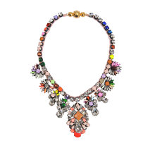 JShine Women's Unique Handmade Statement Necklace Colorful Crystal Long Necklace Women Pendant Necklace Party Jewelry(China)