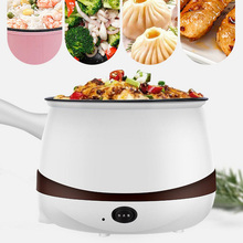 Home Kitchen Electric Cooker Single Double Heating Pot Multi-function Cooking Stew Steaming Cooking Pot with 2 Spoons Chopsticks