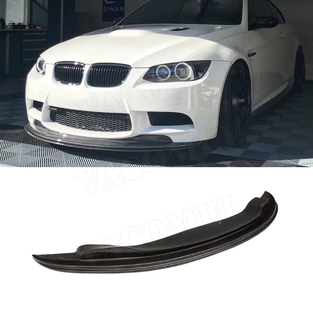 3 Series Carbon fiber front lip Spoiler for BMW E90 E92 E93 M3 2009-2012 GT-S Style Head Bumper Chin Guard Car Styling image