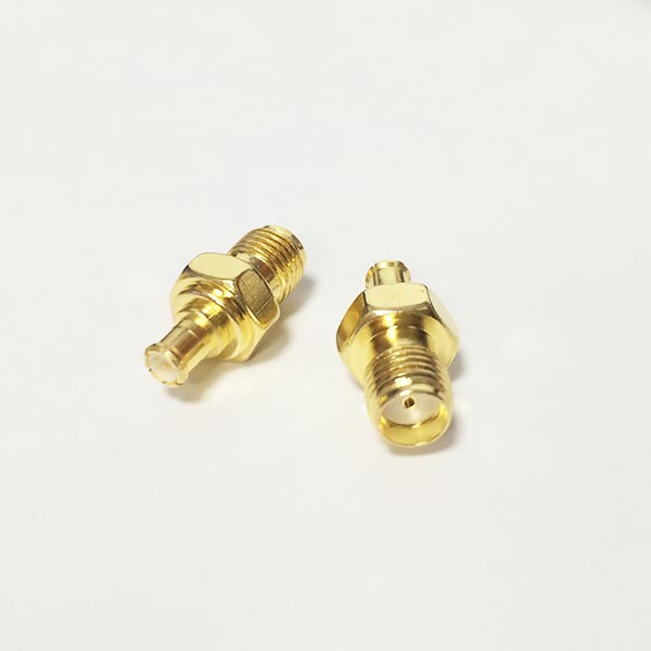 1PC  NEW  SMA  Female Jack to MCX  Male Plug  RF Coax Adapter convertor  Straight  Goldplated  wholesale