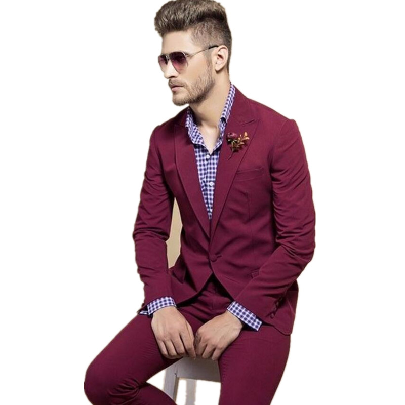 Christmas Party Suit Men.Casual Style Man Suit Groom Tuxedos Slim Fit Men Wedding
