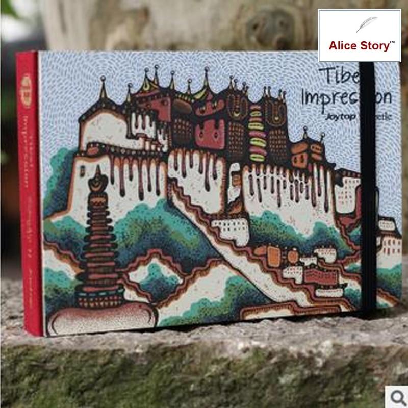 Tibet impression joytop diary sketch book journal notebook stationery travel планшет impression impad 1003
