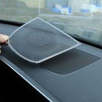 1pc Aluminum Dashboard Speaker CoverTrim Car Sticker For BMW X5 F15 X6 F16 Car Accessories 2014 UP