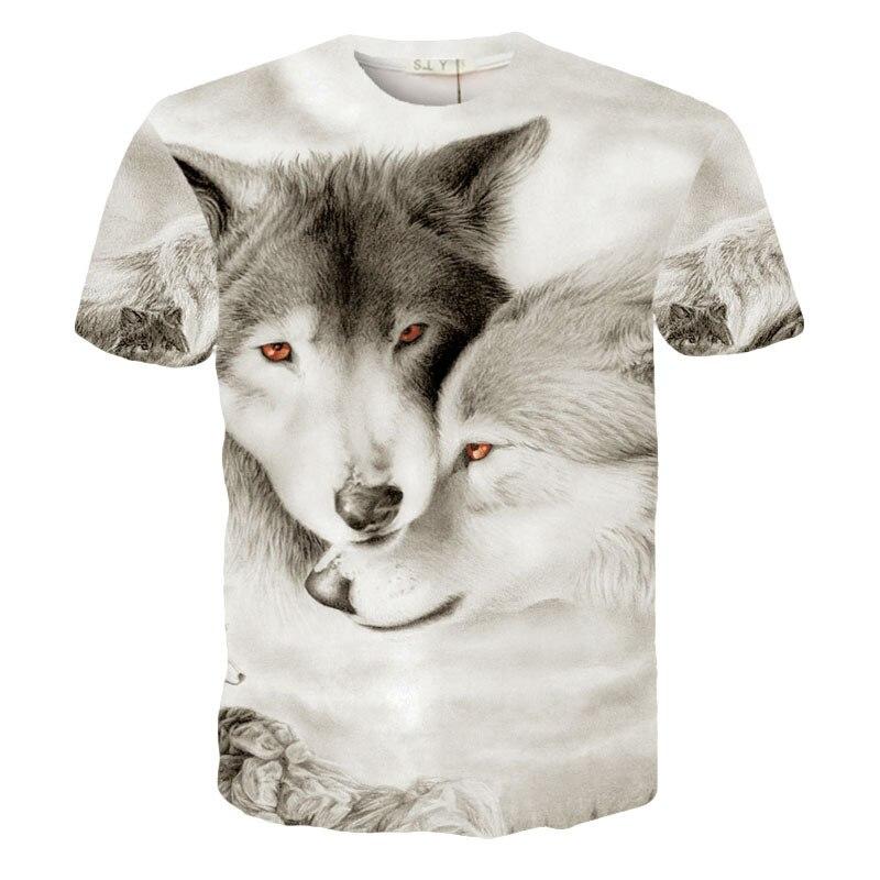 47d50640deb Spring Summer Men Women s 3D Print Snow Wolf Short Sleeve Cool Street Hip  Hop Unisex Tee Shirt-in T-Shirts from Men s Clothing on Aliexpress.com